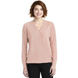 LW702 Port Authority ® Ladies Wrap Blouse (1878659301418)