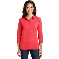 L578 Port Authority® Ladies 3/4-Sleeve Meridian Cotton Blend Polo (1877639692330)