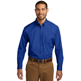 TW100 Port Authority® Tall Long Sleeve Carefree Poplin Shirt (1569089224746)