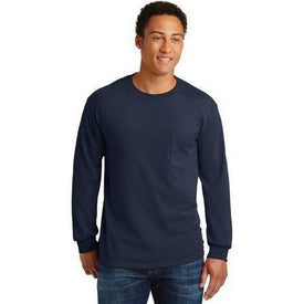 Gildan - Ultra Cotton 100% Cotton Long Sleeve T-Shirt with Pocket. 2410 (4874902339662)
