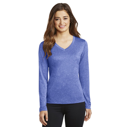 LST360LS Sport-Tek® Ladies Long Sleeve Heather Contender™ V-Neck Tee