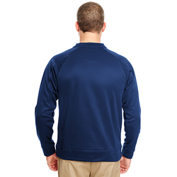 8443 UltraClub Adult Cool & Dry Sport Crew Neck Fleece