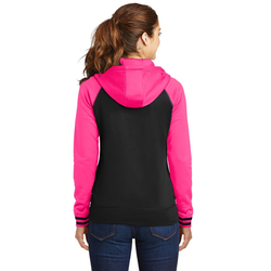 LST236 Sport-Tek® Ladies Sport-Wick® Varsity Fleece Full-Zip Hooded Jacket