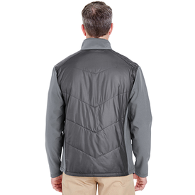 8295 UltraClub Adult Soft Shell Jacket with Quilted Front & Back (1782699622442)