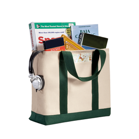 B400 Port Authority® - Two-Tone Shopping Tote (1473946320938)