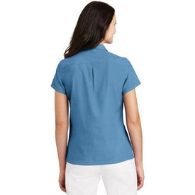 L662 Port Authority® Ladies Textured Camp Shirt (1564111470634)