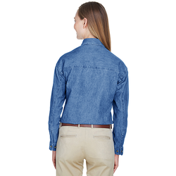 8966 UltraClub Ladies' Cypress Denim