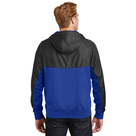JST50 Sport-Tek® Embossed Hybrid Full-Zip Hooded Jacket (1545755852842)