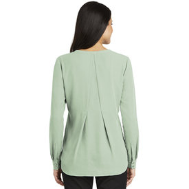 LW700 Port Authority ® Ladies Long Sleeve Button-Front Blouse (1878682861610)