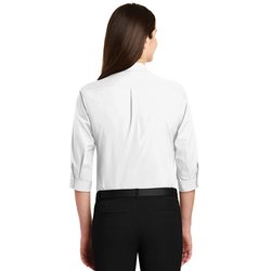 LW102 Port Authority® Ladies 3/4-Sleeve Carefree Poplin Shirt