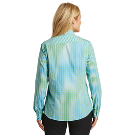 L654 Port Authority® Ladies Long Sleeve Gingham Easy Care Shirt (1570237317162)
