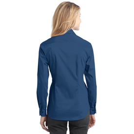 L646 Port Authority® Ladies Stretch Poplin Shirt (1570174500906)