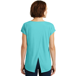 DM416 District ® Women's Drapey Cross-Back Tee