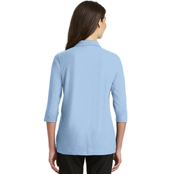 L562 Port Authority® Ladies Silk Touch™ 3/4-Sleeve Polo