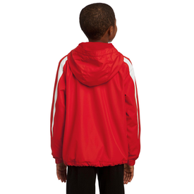 YST81 Sport-Tek® Youth Fleece-Lined Colorblock Jacket (1543335215146)