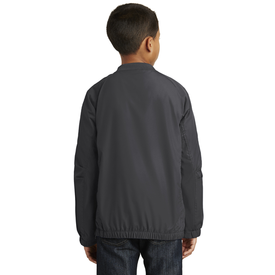 YST72 Sport-Tek® Youth V-Neck Raglan Wind Shirt (1570984493098)