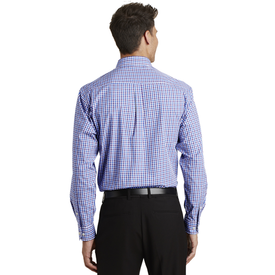 S654 Port Authority® Long Sleeve Gingham Easy Care Shirt (1570343747626)