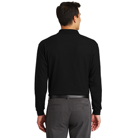K500LSP Port Authority® Long Sleeve Silk Touch™ Polo with Pocket (1376918798378)