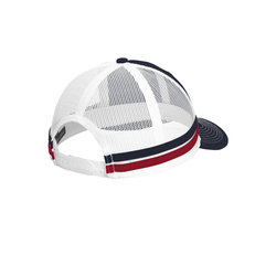 C113 Port Authority ® Two-Stripe Snapback Trucker Cap