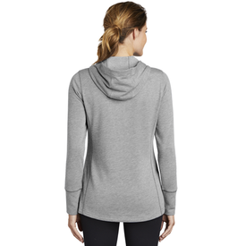 LST296 Sport-Tek ® Ladies PosiCharge ® Tri-Blend Wicking Fleece Hooded Pullover (1870031257642)