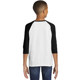 5700B Gildan ® Heavy Cotton ™ Youth 3/4-Sleeve Raglan T-Shirt (1864496775210)