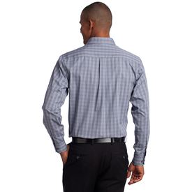 TLS642 Port Authority® Tall Tattersall Easy Care Shirt (1570260418602)