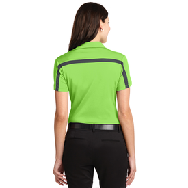 L547 Port Authority® Ladies Silk Touch™ Performance Colorblock Stripe Polo (1535031345194)