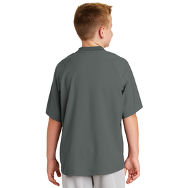 YNEA600 New Era® Youth Cage Short Sleeve 1/4-Zip Jacket (1571236184106)