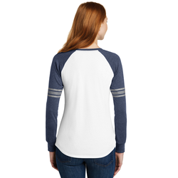 DM477 District ® Women's Game Long Sleeve V-Neck Tee