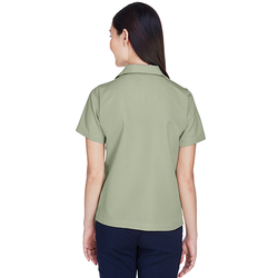 8981 UltraClub Ladies' Cabana Breeze Camp Shirt