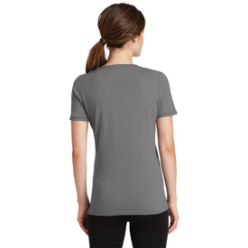 LPC381V Port & Company® Ladies Performance Blend V-Neck Tee (1365797896234)