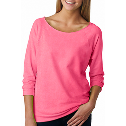 6951 Next Level Ladies' French Terry 3/4-Sleeve Raglan (1885497524266)