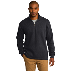 F295 Port Authority® Slub Fleece 1/4-Zip Pullover (1571301392426)