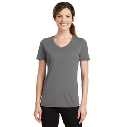 LPC381V Port & Company® Ladies Performance Blend V-Neck Tee