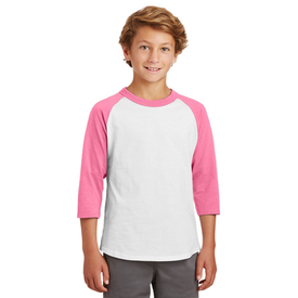 YT200 Sport-Tek® Youth Colorblock Raglan Jersey (1437973643306)