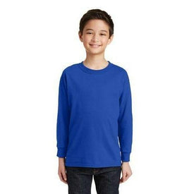 Gildan Youth Heavy Cotton 100% Cotton Long Sleeve T-Shirt. 5400B (4874901520462)