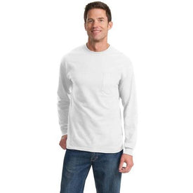 PC61LSPT Port & Company® Tall Long Sleeve Essential Pocket Tee (1343608913962)