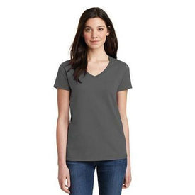 Gildan Ladies Heavy Cotton 100% Cotton V-Neck T-Shirt. 5V00L (4874901422158)