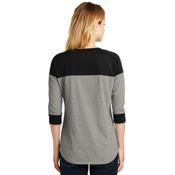 LNEA104 New Era® Ladies Heritage Blend 3/4-Sleeve Baseball Raglan Tee