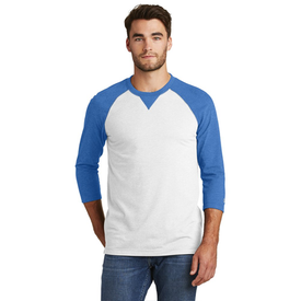 NEA121 New Era® Sueded Cotton 3/4-Sleeve Baseball Raglan Tee (1439788367914)