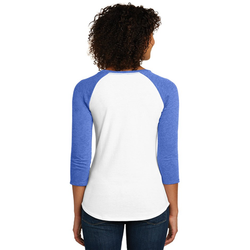 DT6211 District® Women's Fitted Very Important Tee ® 3/4-Sleeve Raglan