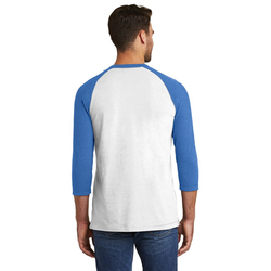 NEA121 New Era® Sueded Cotton 3/4-Sleeve Baseball Raglan Tee