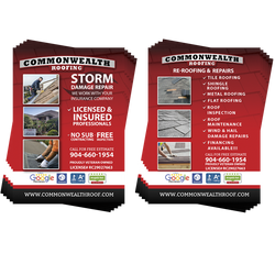 "Commonwealth Roofing Flyers 4"" x 6"" (4575557943374)"