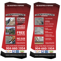 Commonwealth Roofing Door Hangers (4577138344014)