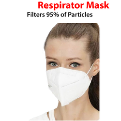Respirator Face Mask, Headgear Full Face Protection Masks 1 pcs (4655926607950) (4655928049742)
