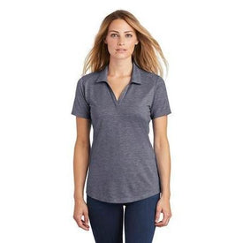 Sport-Tek Ladies PosiCharge Tri-Blend Wicking Polo. LST405 (4852750909518)
