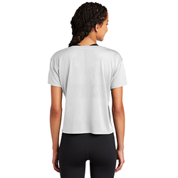 LST411 Sport-Tek ® Ladies PosiCharge ® Tri-Blend Wicking Draft Crop Tee