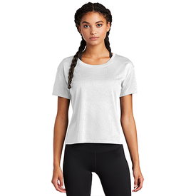 LST411 Sport-Tek ® Ladies PosiCharge ® Tri-Blend Wicking Draft Crop Tee (4510186340430)