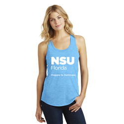 NSU ® - Ladies Shark Against Plastic Racerback Tank
