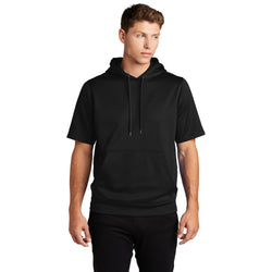 ST251 Sport-Tek ® Sport-Wick ® Fleece Short Sleeve Hooded Pullover (4512419479630)